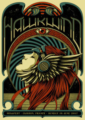 "HAWKWIND ""Hellfest 2017"" Screen Print"