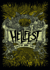 "HELLFEST ""Official Poster 2017"" Screen Print (Fortifem)"