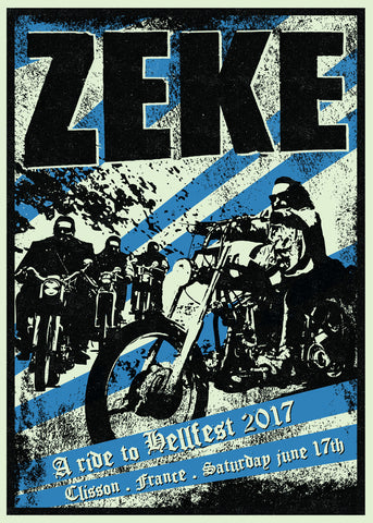 "ZEKE ""Hellfest 2017"" Screen Print"