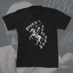 "YOUTH AVOIDERS ""Chevalier"" Men black Tshirt"
