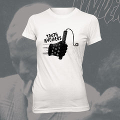 "YOUTH AVOIDERS ""Dynamite"" Women white Tshirt"