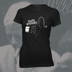 "YOUTH AVOIDERS ""Dynamite"" Women black Tshirt"