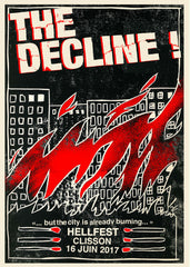 "THE DECLINE ! ""Hellfest 2017"" Screen Print"