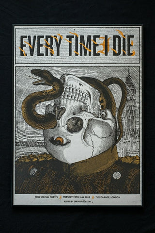"Every Time I Die ""Garage - London 2018"" Screen Print"