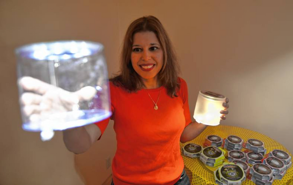 Magda Ponce-Castro and Luci Solar Lights