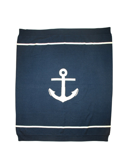 Anchors Away | Cashmere Blanket