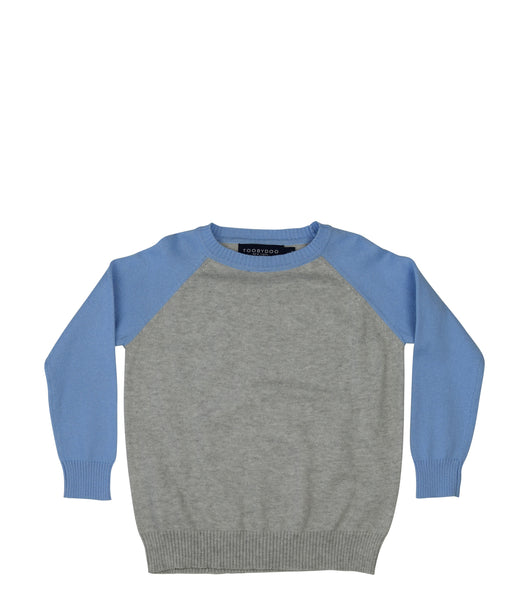 Derek | Cashmere  Baseball Sweater