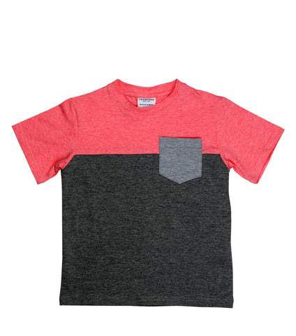 Color Block Tee | Coral