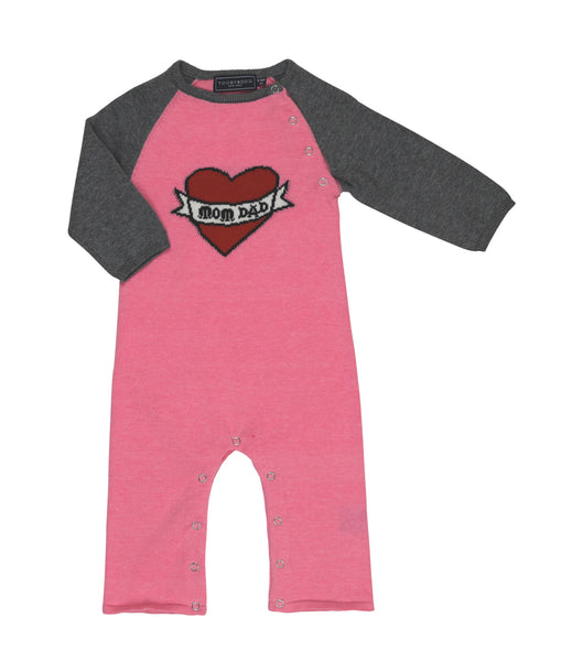 Love Mom & Dad | Pink Sweater Jumpsuit
