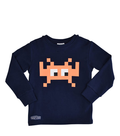 Invaders Orange | Long Sleeve T-shirt