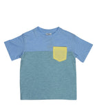 Color Block Tee | Blue
