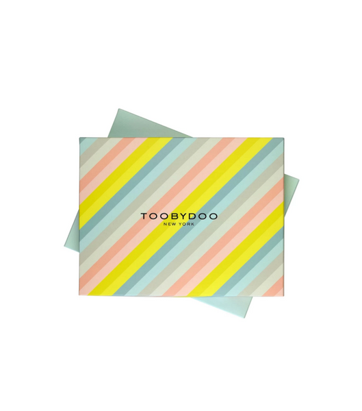 Gift Box Stripe | Light Blue Bottom