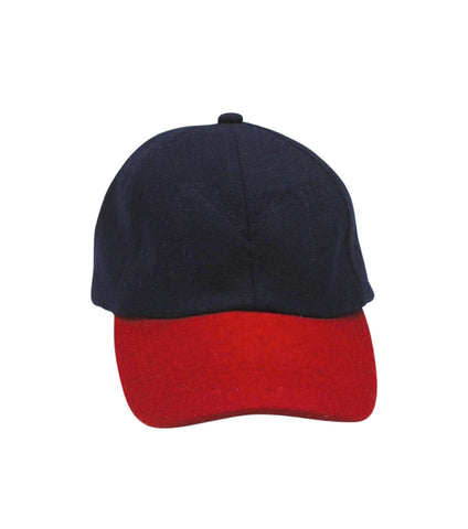 Wool Cap | Navy & Red