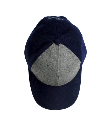Wool Cap | Navy & Grey