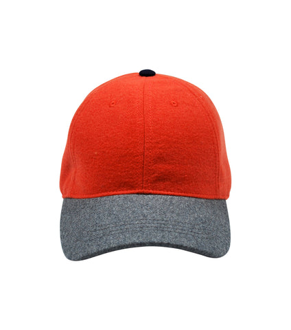 Wool Cap | Orange & Grey