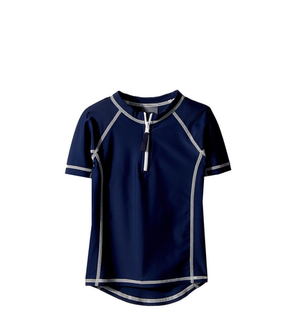 Cape Navy | Short Sleeve Rash Guard
