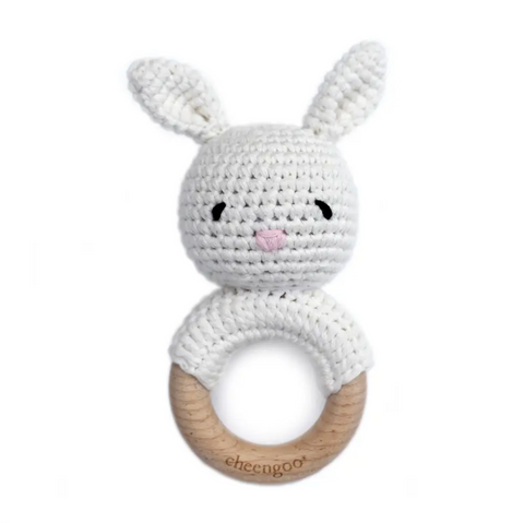 CGO BUNNY WHITE TEETHING RATTLE