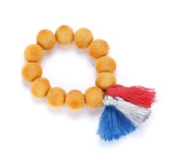 PPK FUZZY BEAD BRACELET ORANGE