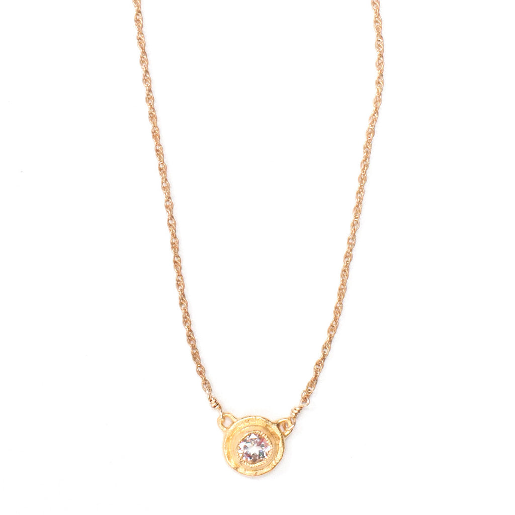 Topaz Solitaire Gold