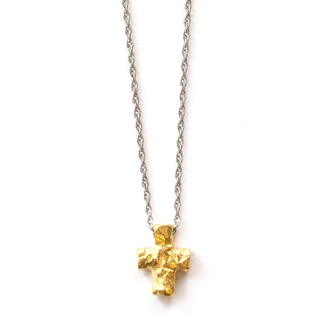 Hammered Cross Gold