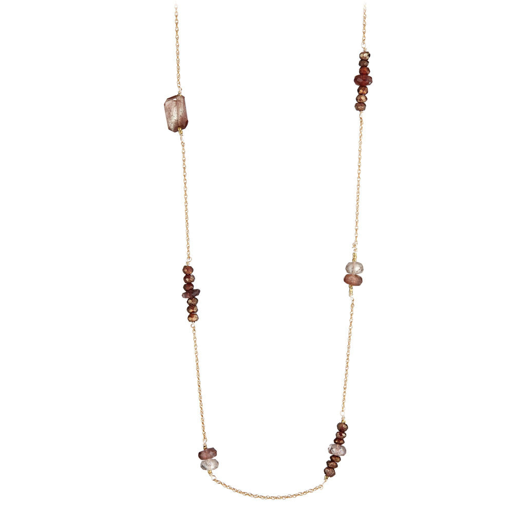 Hessonite Medley Necklace