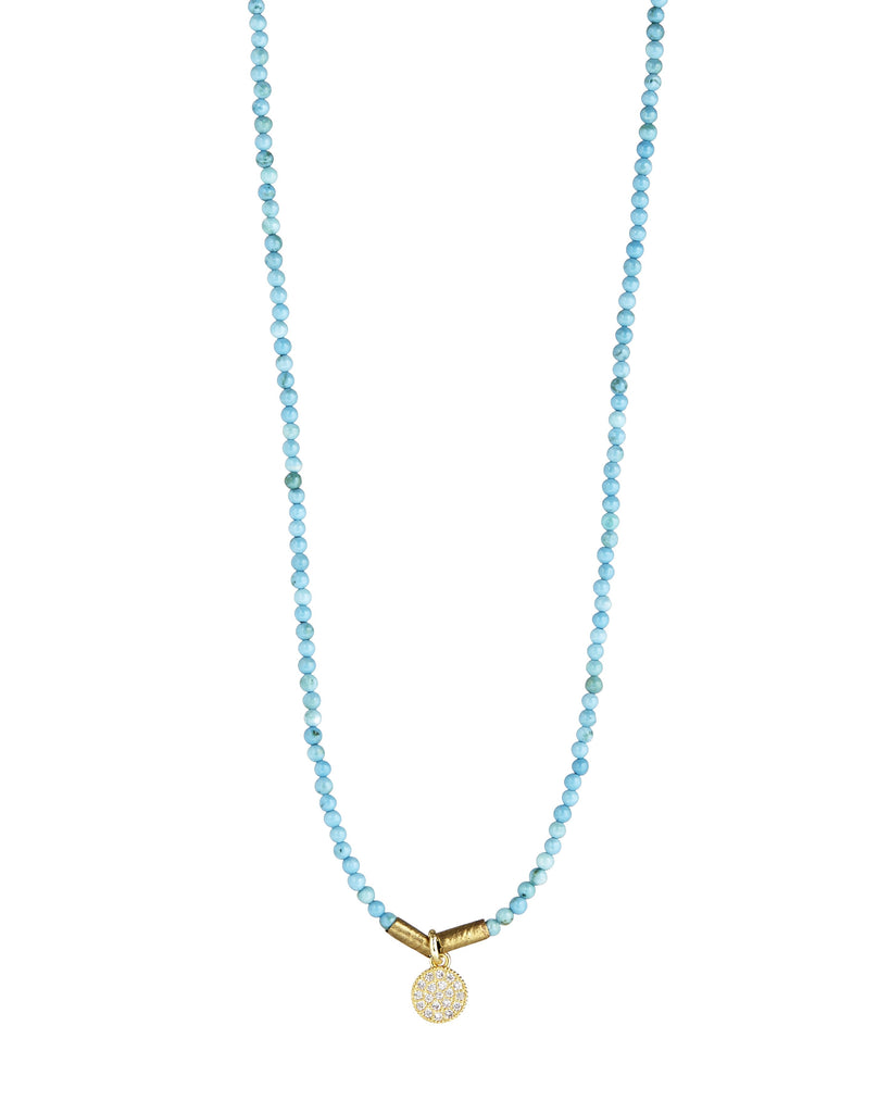 meets img new products dainty petal necklace sky hand vintage turquoise