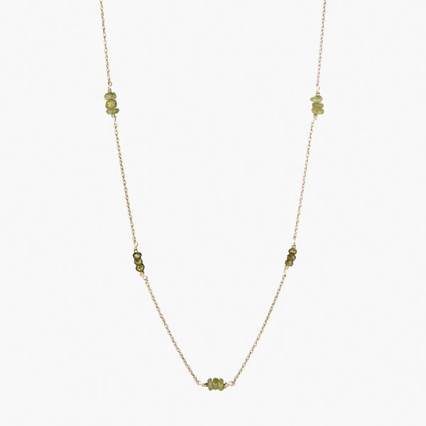Scatter in Green Garnet