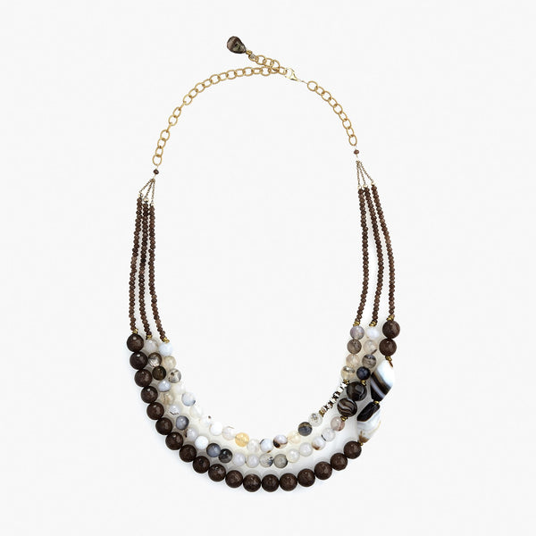 Brown Jade Facets Necklace