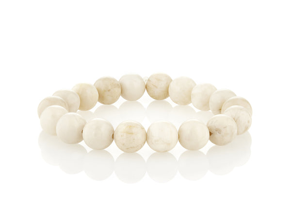 Avindy cream ball stretch bracelet