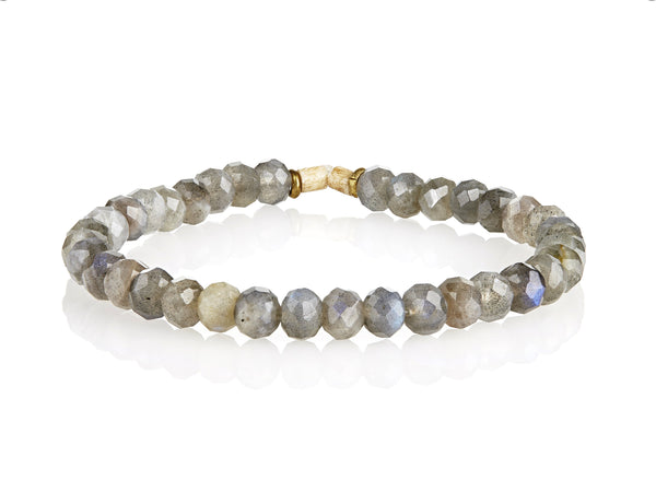 Labradorite Small Bead Stretch Bracelet