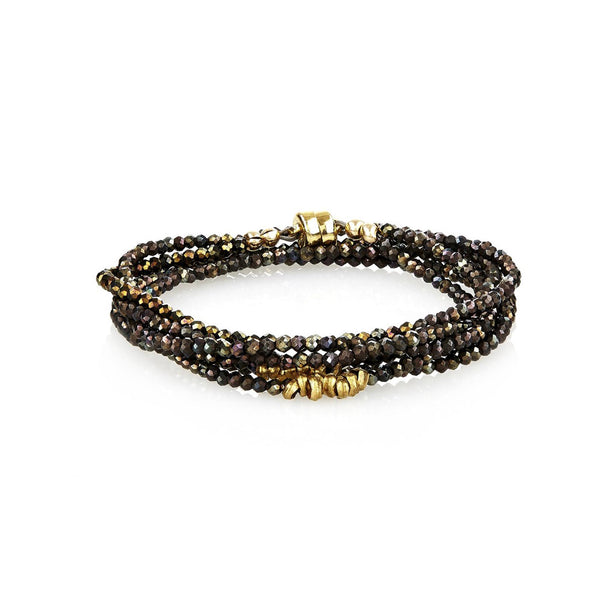 Bronze Spinel Wrap Bracelet