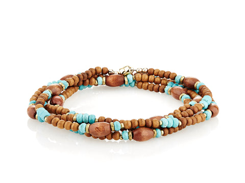 Wood Wrap with Turquoise