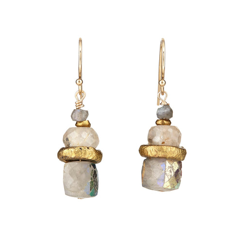 Quartz Cube Earrings