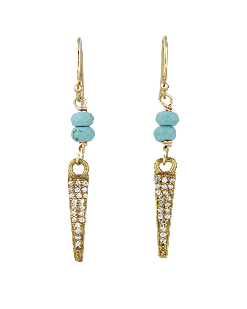 Avindy turquoise and pave earrings