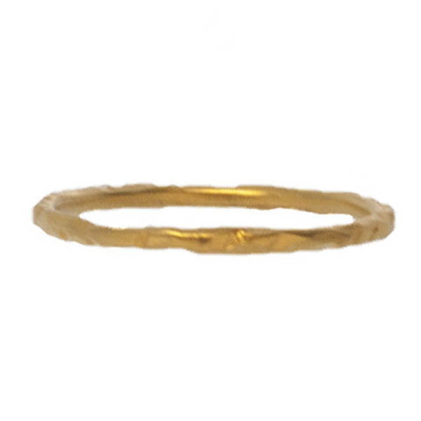 Hammered Skinny Band, Gold