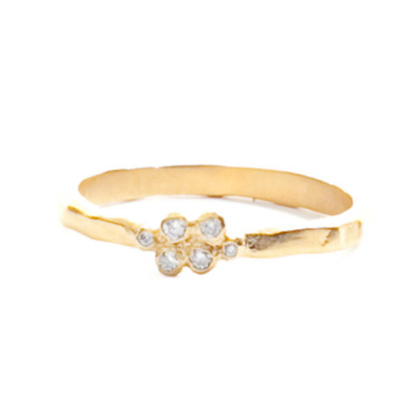 Six Bezel Cluster Ring, Gold