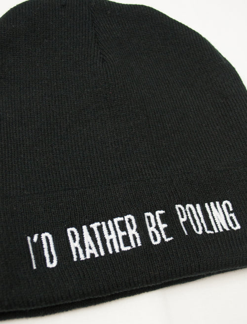 I'd Rather Be Poling Beanie - Push + Pole - 3