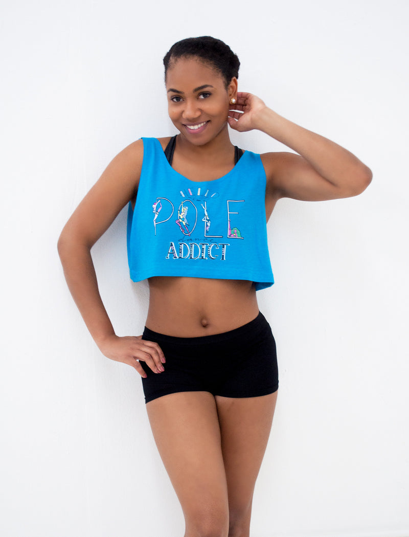 Pole Dancing Addict Loose Crop Tank - Push + Pole - 2