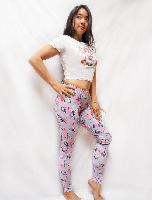 Flora & Fauna Flexy Leggings - Push + Pole - 1