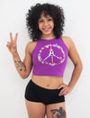 Peace, Pole, Love Sleeveless Crop Top - Push + Pole - 1