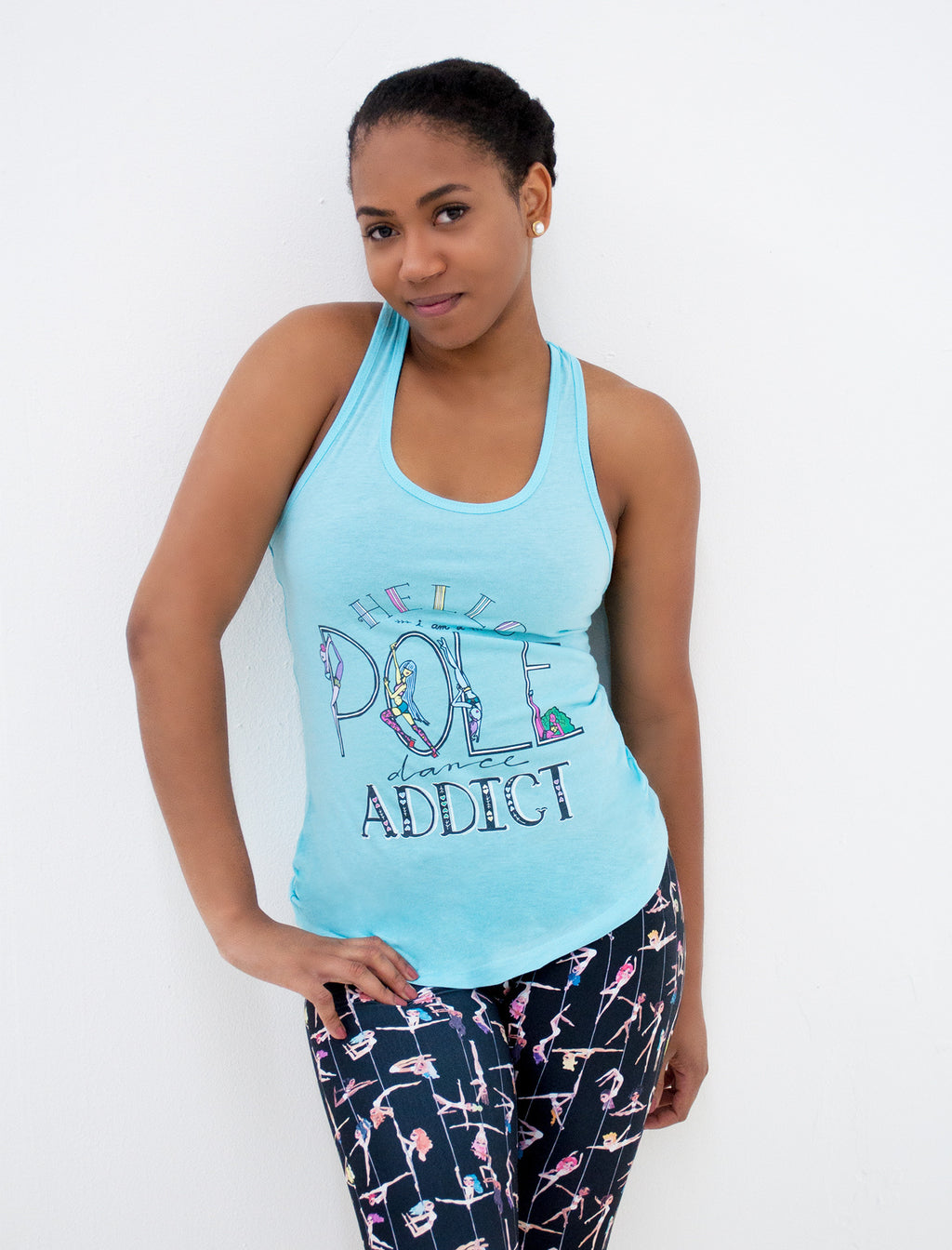 Pole Dancing Addict Racerback Tank - Push + Pole - 1