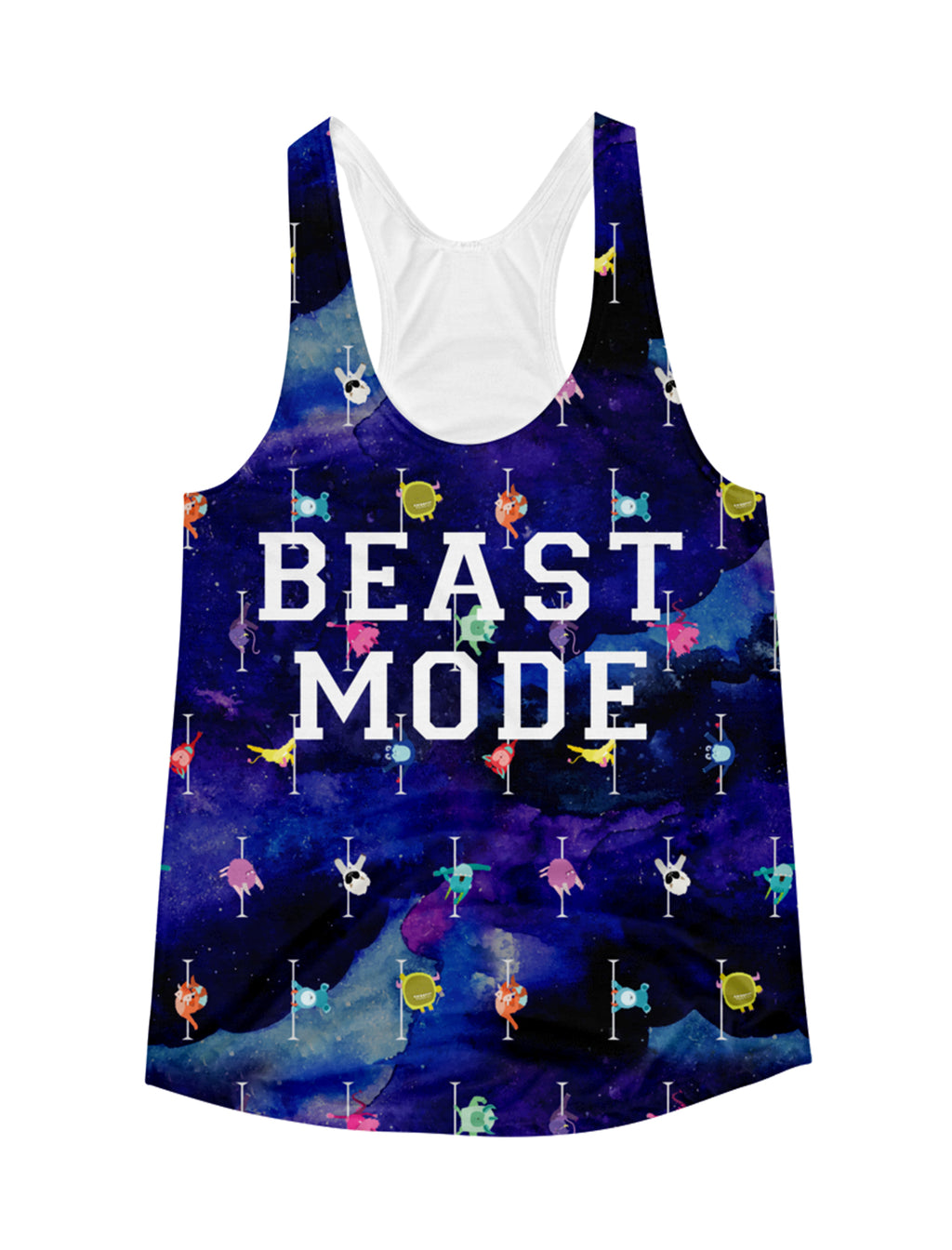 Team Beast Mode All-Over Print Racerback Tank Top