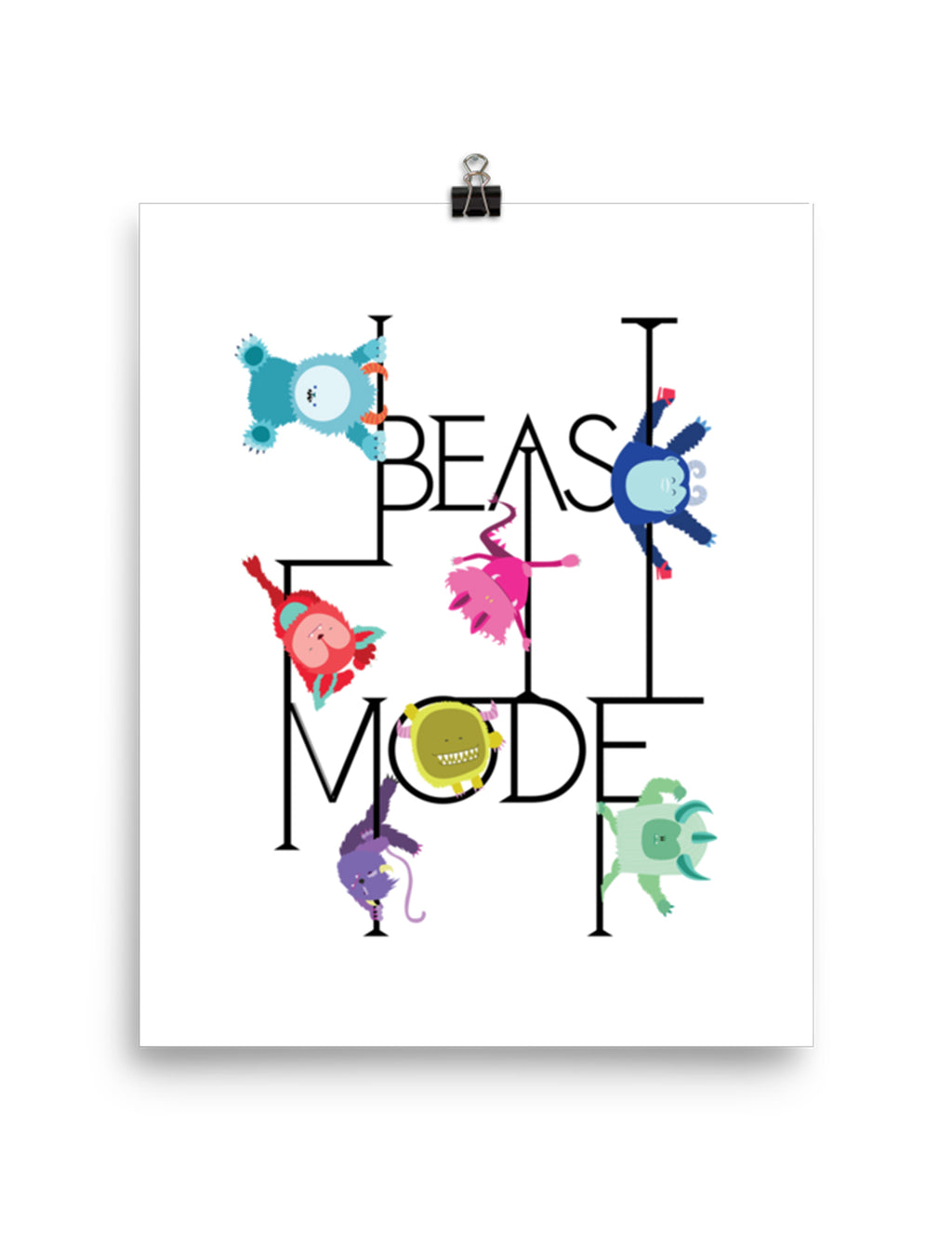 Beast Mode Wall Art Poster
