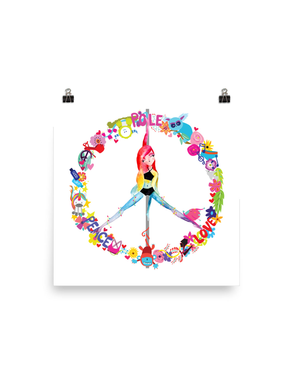 Peace, Pole, Love Wall Art Poster
