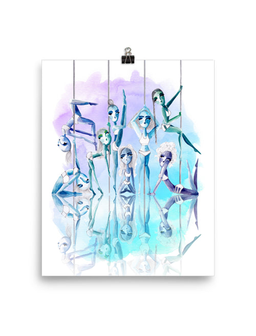 Pole Sisters Wall Art Poster