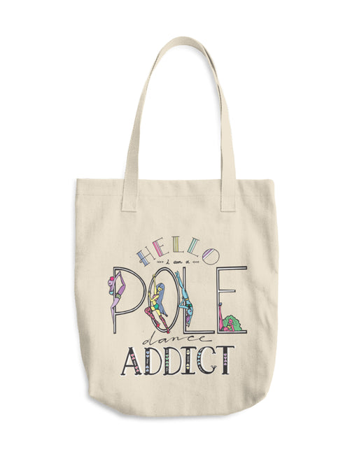 Pole Dancing Addict Cotton Canvas Tote
