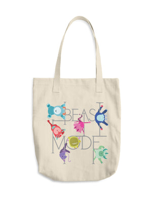 Beast Mode Cotton Canvas Tote
