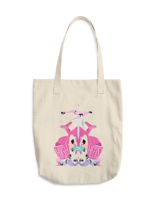 High On Heels Canvas Tote