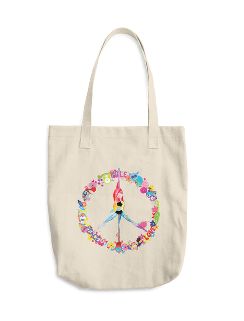 Peace, Pole, Love Cotton Canvas Tote