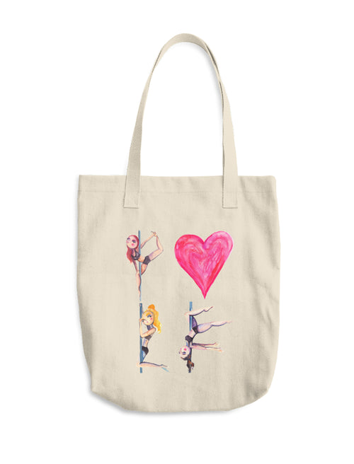 Pole Love Canvas Tote